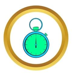 Pocket watch icon cartoon style vector image