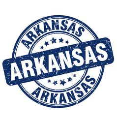 Arkansas blue grunge round vintage rubber stamp vector