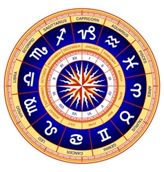 astrological wheel vector image