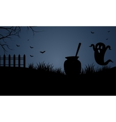 At night scary halloween vector