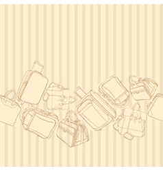 Background with shopping bag vector
