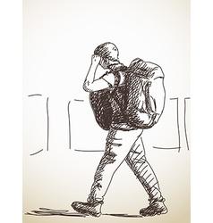 Backpacker vector