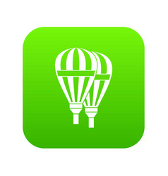 balloons icon digital green vector image
