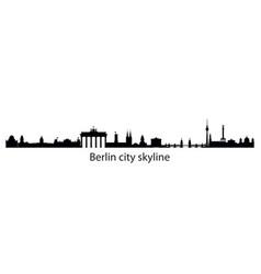 Berlin cityscape long vector