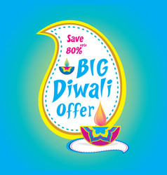 big diwali offer banner design vector image