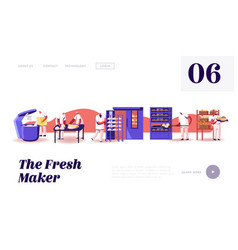 bread machinery production website landing page vector image