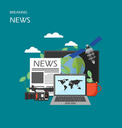 Breaking news flat style design vector