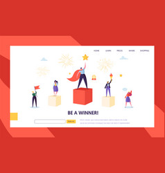 business success leadership landing page template vector image