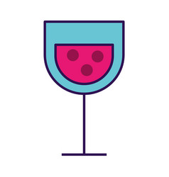 cartoon glass wine vector image