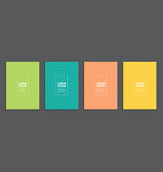 collection set of simple minimal covers business vector image