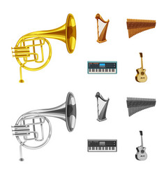design of music and tune sign collection vector image