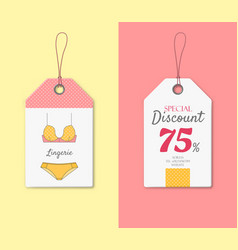 discount price tag with classic lingerie vector image
