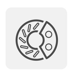 Disk brake icon vector