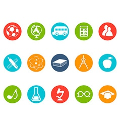 Education button icons set vector