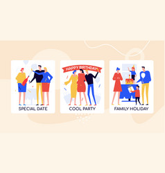 event agency offers colorful banner vector image