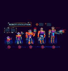 Evolution robots technological progress vector