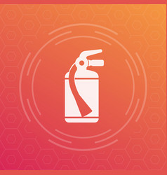 Fire extinguisher icon symbol vector