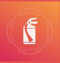 Fire extinguisher icon symbol vector
