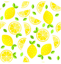 fresh lemons background hand drawn overlapping vector image