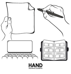 Hand drawing pack vector