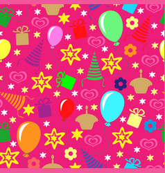 happy birthday greeting multicolor pattern vector image