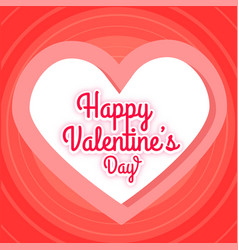 Happy valentines day pink heart red blackground ve vector