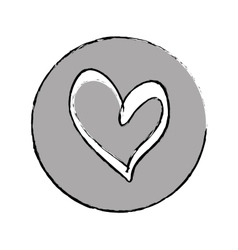 Heart scribble draw vector
