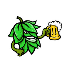 Hops drinking beer mascot vector
