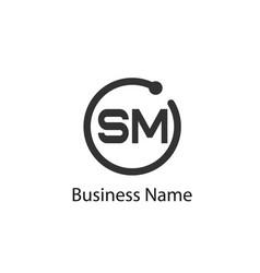 Initial letter sm logo template design vector