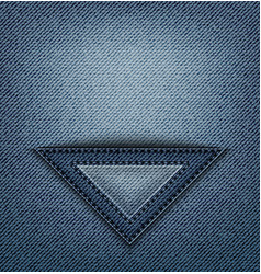 Jeans triangle pocket vector