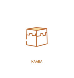 Kaaba concept 2 colored icon simple line element vector