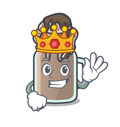 king milkshake mascot cartoon style vector image