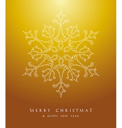 Luxury Merry Christmas snowflake background EPS10 vector image
