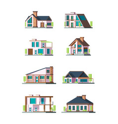 modern cottages villa new living home residence vector image