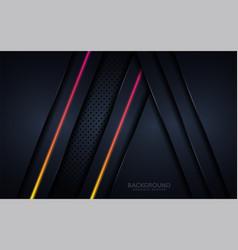 modern dark colorful luminous background graphic vector image