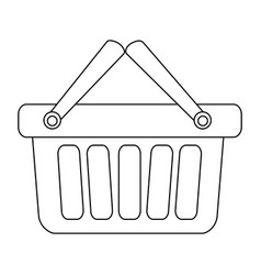 monochrome contour with shopping basket with two vector image