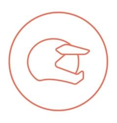 Motorcycle helmet line icon vector image