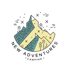 new adventures camping logo design adventure vector image