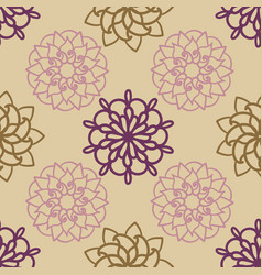 ornamental mandala seamless pattern vector image