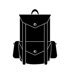 Pictogram backpack travel hiking equipment camping vector