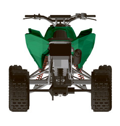 Polygonal green atv isolated on a white background vector