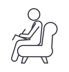 Psychologistconsultant line icon sig vector