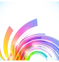 Rainbow colors abstract shining background vector image