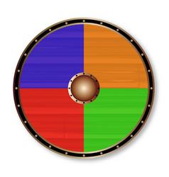 Round viking shield vector