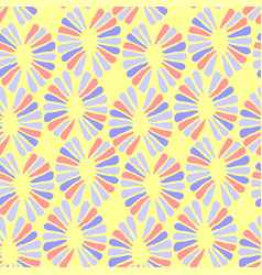 seamless baby pattern with retro flowers vector image