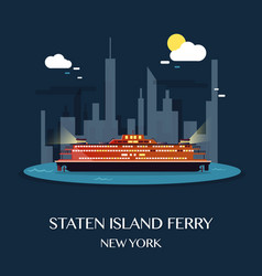 Staten island ferry vector