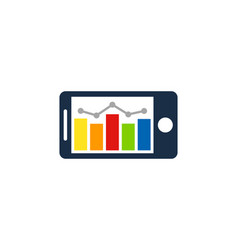 stats mobile logo icon design vector image