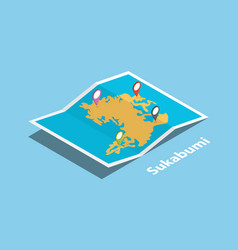 sukabumi indonesia city explore maps vector image