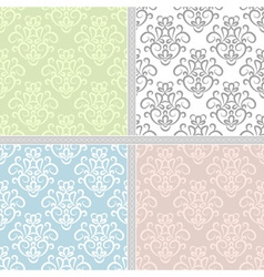 Summer seamless ethnic pattern set vector image