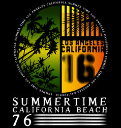 summer tee graphic design california vector image